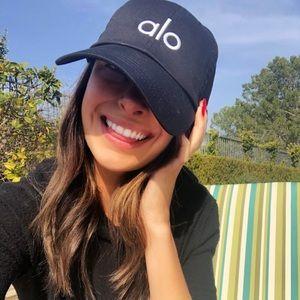 Alo Yoga Black Dad Hat